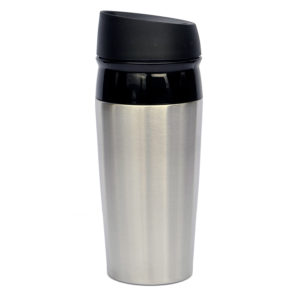 "120-539 Cruise tumbler w/ screw top & gray BUTTON "" siplock """