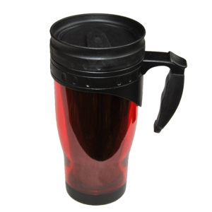 120-465rd Fresh Acrylic tumbler (red) w/ rubber accent handle