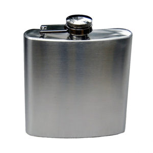 193-07 Stainless flask Brush Finish