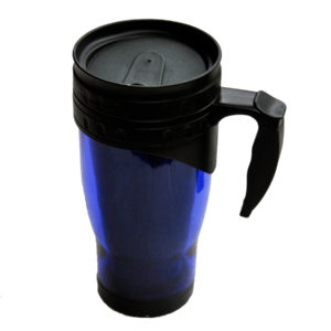 120-465bl Fresh Acrylic tumbler (blue) w/ rubber accent handle